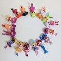 2016 Nuevo botón de ojos mini muñecas Lalaloopsy, niño regalo de cumpleaños del niño, juego juguetes casa, figura de acción girls brinquedos