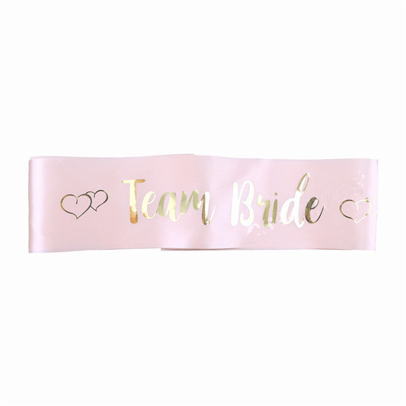 Pink Hot Stamping Bride Etiquette With Bride To Be Sash Bachelor Party Bridesmaid Team Bride Shoulder Strap Girl Beautiful Charm (4)