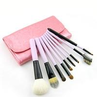 9Pcs Wool Hair Makeup Brushes Set Pro Foundation Powder Contour Eyeliner Eyebrow Eyeshadow Makeup Brushes With