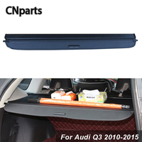 CNparts Car Rear Trunk Cargo Cover For Audi Q3 2010 2015 Car Styling Black Security Shield Shade Auto accessories