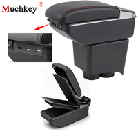 For Volkswagen VW Polo 9N 2002 To 2009 Car Armrest Box With Dual Usb Central Store Content Storage Box Center Console Cup Holder