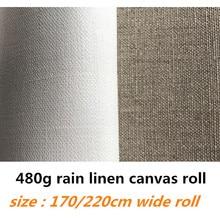 1,7 м/2,2 м в ширину 10 м в длину чистый дождь льняной холст рулон для художников с высшего качества
