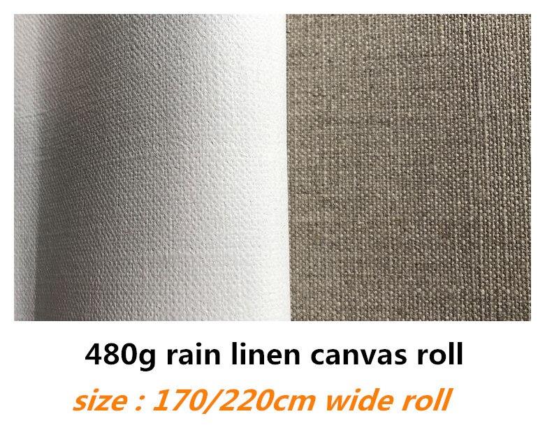 1,7 m/2,2 m de ancho 10 m de largo de lino de lluvia puro rollo de lona para artistas de calidad superior-in Lienzos de pintura from Suministros de oficina y escuela    1