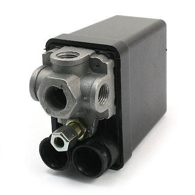 Air Compressor 175PSI 240V 20A 4 Port 3/8PT 1/4PT Pressure Switch Control Valve vertical type replacement part 1 port spdt air compressor pump pressure on off knob switch control valve 80 115 psi ac220 240v