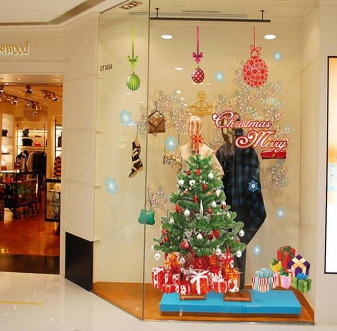 2pcs Christmas Home Decorators Santa Claus Christmas Tree Removable ...