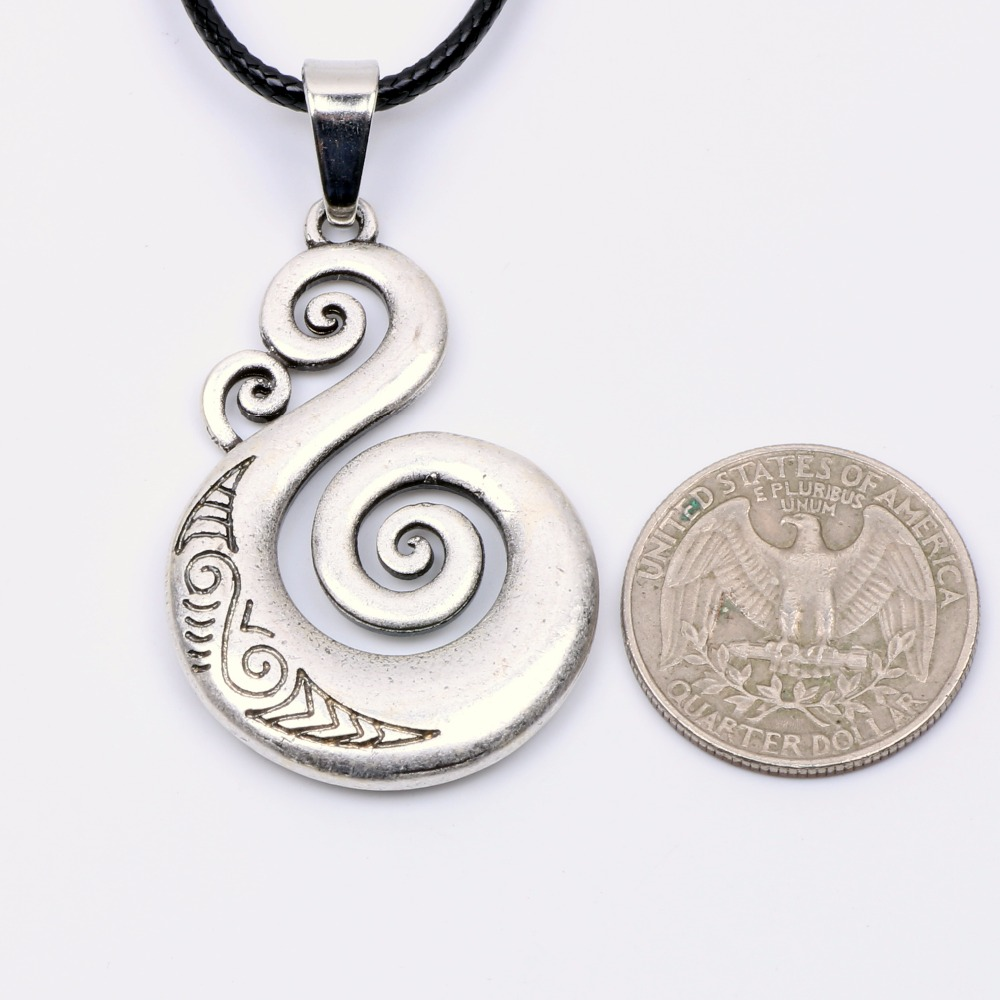 Traditional maori koru necklace pendant love symbol amulet double traditional maori koru necklace pendant love symbol amulet double sided power protection talisman spiritual pagan wiccan jewelry in pendant necklaces from biocorpaavc Images