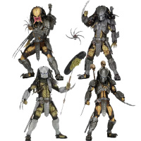 18cm Original NECA AVP Alien vs Predator Chopper Masked Scar Youngblood Predator PVC Action Figures Toys Collection Model Gifts