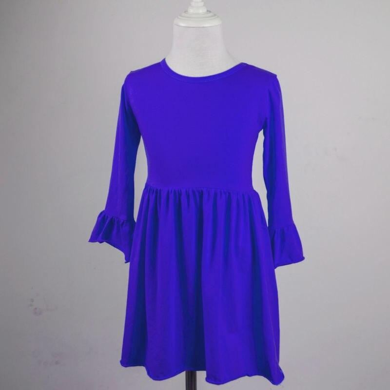 blank infant blue princess dress children kids clothes