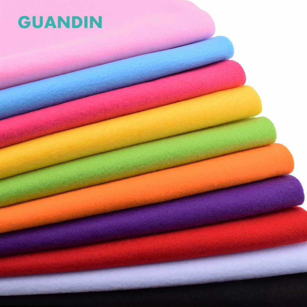 GuanDin,2019 45cmx45cm Soft Felt Cloth/Polyester Nonwoven  Fabric/Thickness 2mm/for DIY Sewing Toys,Crafts Dolls/1pcs in 1 pack