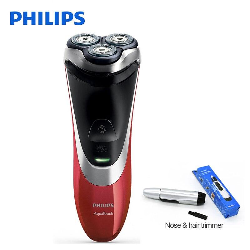 100% Philips Professionnel Électrique Rasoir AT800 Rotatif Rechargeable Pour Hommes Rasage de Avec Triple Lames Flottants Humide et Sec