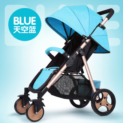 Baby stroller can sit reclining simple portable folding baby stroller free inflatable shock absorber wheelBaby stroller can sit reclining simple portable folding baby stroller free inflatable shock absorber wheel
