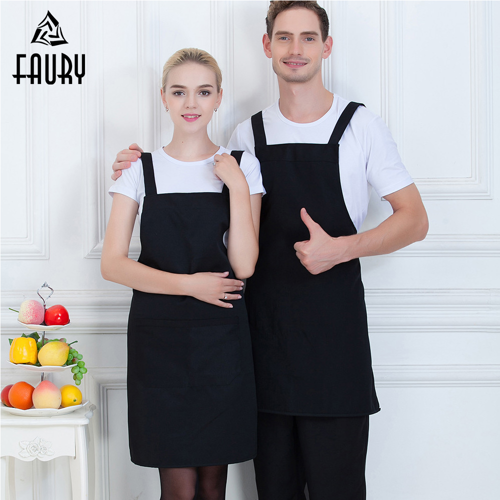 New Arrival Unisex Pure Color Chef Apron Food Service Restaurant Kitchen Cooking BBQ Catering Coffee Waiter Work Wear Uniform