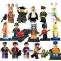 Building Blocks The Beatles Mr Banana Penguin Sausageman Soccer diy figures Superhero Bricks Kids DIY Educational Toys Hobbies