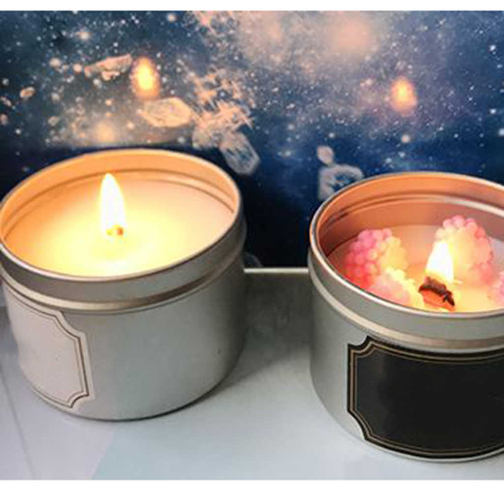Empty Candle Container Tins Empty Cosmetic Pot Jar For Lip Balm, Crafts, Cosmetic, Candles, Candies, Scented Candles 65 x 25mm