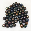 6-7mm AA+ Round Half Hole Peacock Natural Loose Pearls,Sold by Piece
