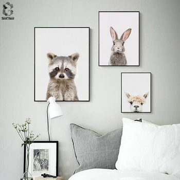 Nordic Racoon Bangs Canvas Art Prints and Posters Decorative, Wall ...