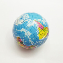 10cm Foam Rubber Ball Toy World Map Foam Earth Globe Hand Wrist Exercise Stress Relief Squeeze