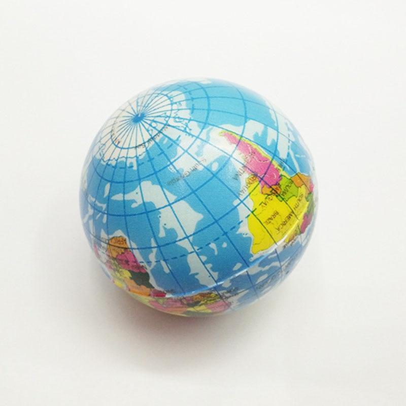 10cm Foam Rubber Ball font b Toy b font World Map Foam Earth Globe Hand Wrist