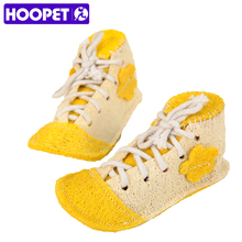 HOOPET Pet Toy Shoe Shaped  Natural Eco-friendly Loofah Sponge Pet Shape Training Molar Teeth Cleaning Toy
