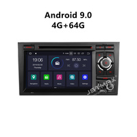 JSTMAX Android 9.0 car dvd Radio multimedia player 4G+64G for Audi A4 B6 B7 S4 B7 B6 RS4 B7 SEAT Exeo FM dab+ radio gps FM DAB