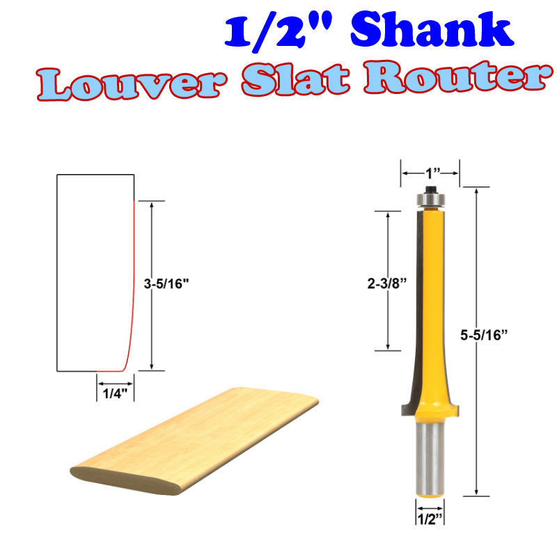 1 Pc 1/2 Shank Louver Slat Router Bit - Large Wood Cutting Tool woodworking router bits- Chwjw 18152 фигурка funko pop marvel guardians of the galaxy vol 2 – taserface bobble head 9 5 см