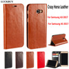 LUCKBUY Top Quality Classic Business Real Leather Flip Cover For Samsung Galaxy A3 2017 Samsung A5