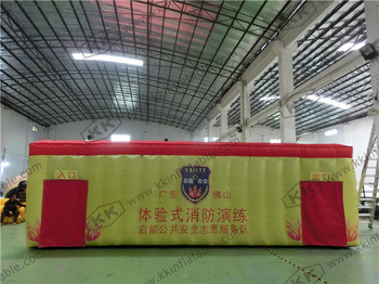 Commercial Nylon inflatable fire fighting drill tent for school