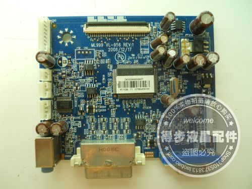 Free Shipping> RDT196LM driver board ML999 VL-956 motherboard package Good Condition new test-Original 100% Tested Wor free shipping original 100% tested working 2333gw 2343bw driver board bn41 01085a 2333sw motherboard package test