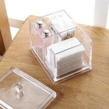 Transparent acrylic cosmetic cotton case storage box  14*10*11cm