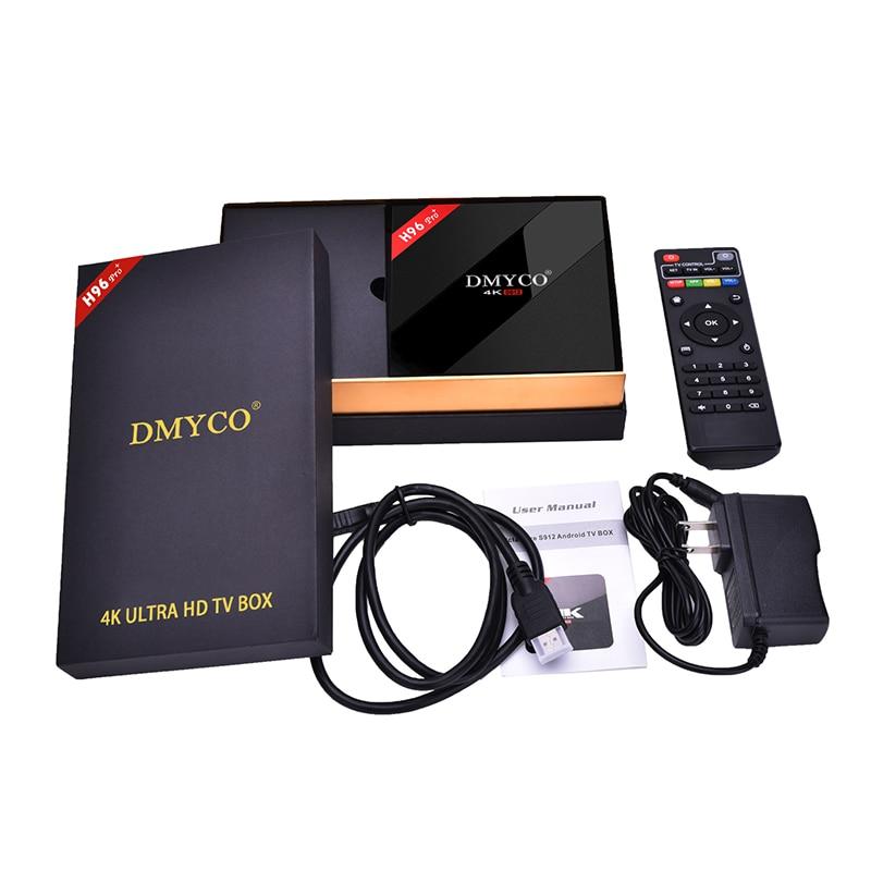 H96 Pro+ TV Box Amlogic S912 3GB+32GB Octa Core Android 7.1 OS BT 4.1 2.4GHz WiFi Mini PC Media Player H96 Smart Set Top Box