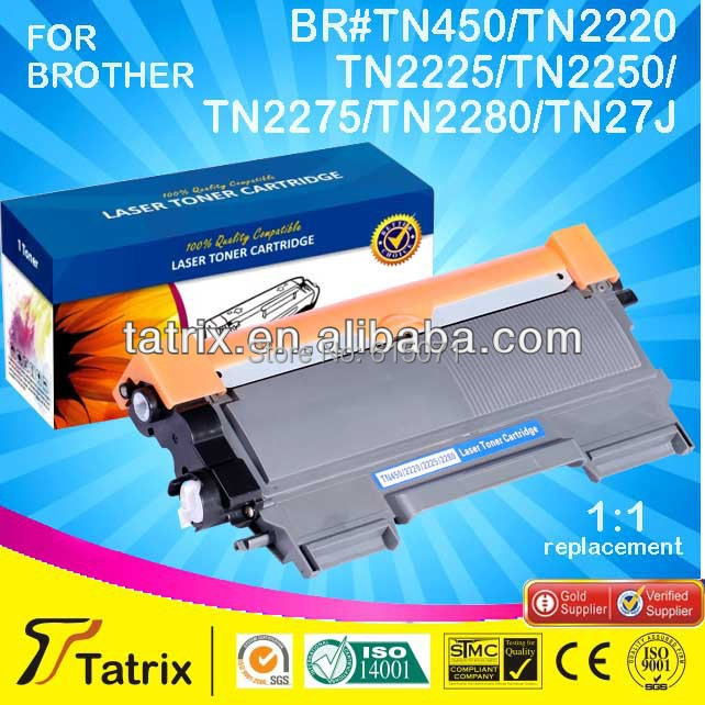 ФОТО Free shipping TN450 TN2250 TN2220 Toner Cartridge for Brother TN 450 TN 2250 TN 2225 Toner Cartridge for Brother 1:1 replacement