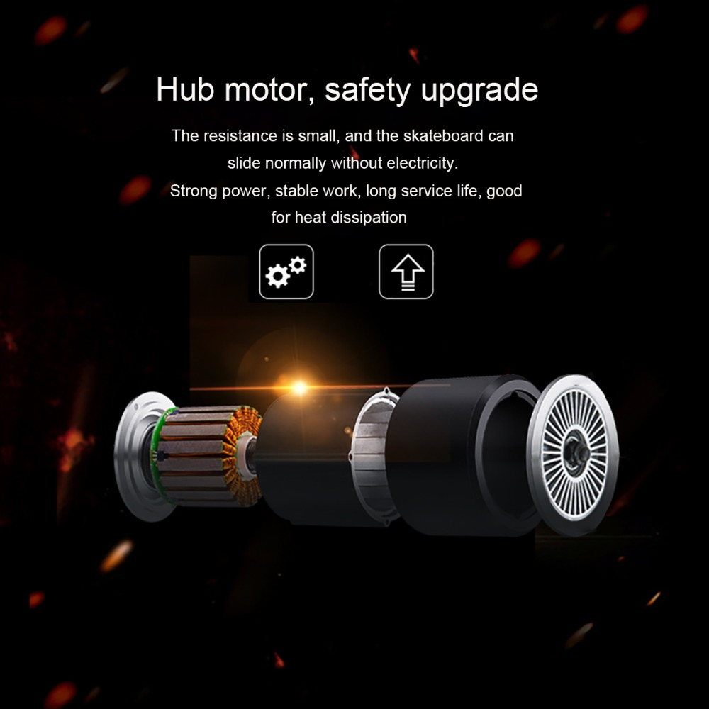 Image 5 - Maxfind electric skateboard four colors hub motor 3.7kg Lightweight 20KM/h 4 Wheel  Scooter Plate Skate Board-in Skate Board from Sports & Entertainment