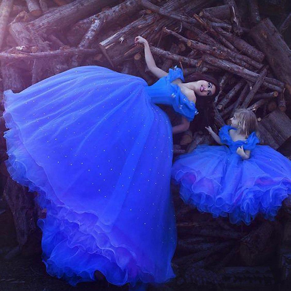 Girls Cinderella Princess Cosplay Costume (6)