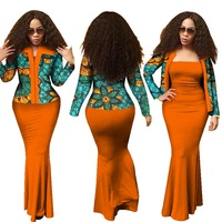 African Bazin Riche Dresses Women African Clothing Direct Selling Special Offer 2019 Cotton Batik Print Dress