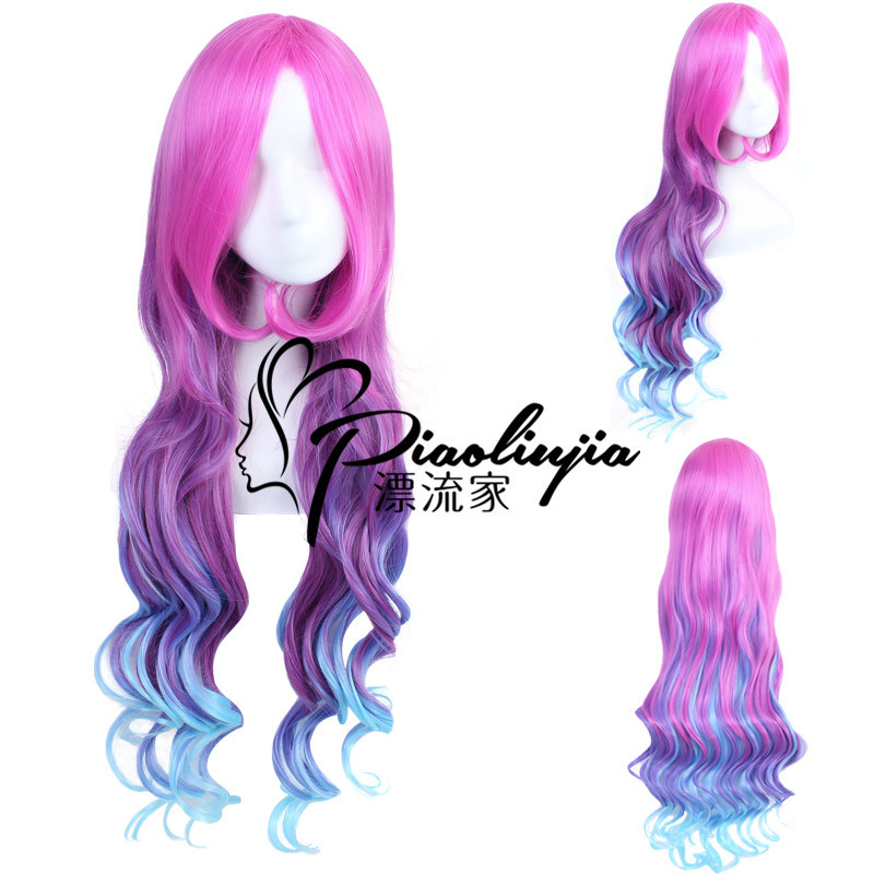 HOT Game LOL K/DA Miss Fortune Cosplay Wigs Rose Red KDA Heat Resistant Synthetic Hair Perucas the Bounty Hunter Cosplay Wig