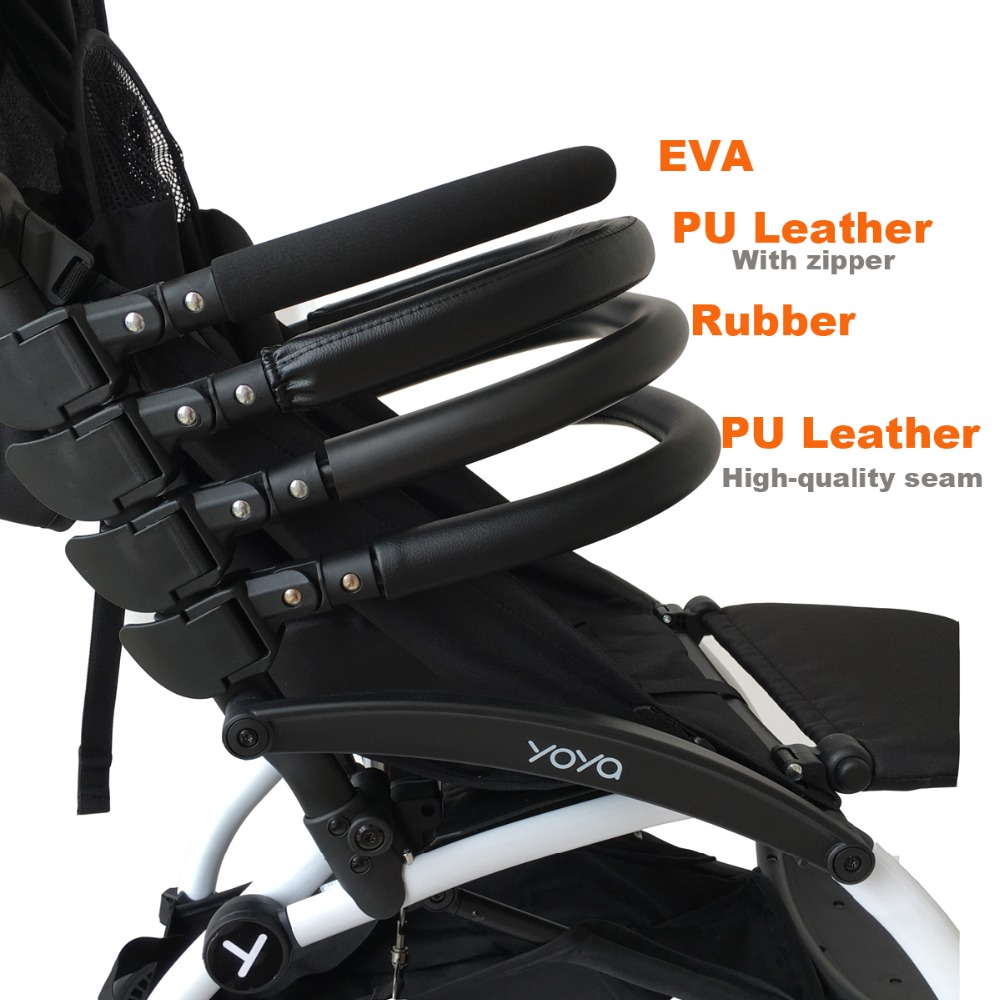 Baby Stroller Accessories Armrest Bumper Bar Handle Bar With Leather Cover Or Rubber Fit Bee 3 Bee 5 Bee+ Yoyo Yoya Yuyu Vovo