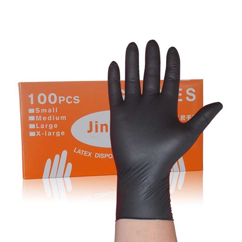 100Pcs/Lot Black Disposable Nitrile Gloves Powder Free Ambidextrous Medical House Industrial Tattoo Gloves