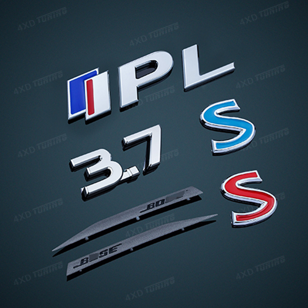 For Infiniti Q50 Q50S IPL 3.7 Metal Car Sticker Auto emblem Rear bumper Upgarde Q50S Sport Q50 S Logo trim cover For decoration front rear emblem grille logo badges sticker for toyota ez auto sticker on the car 1pc