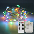 10M 100 LED Copper Wire Fairy String Lights With Remote Controller 3 AA Battery Powered Outdoor Garden String Garland