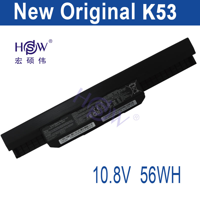 HSW NEW battery A32-K53 for Asus X84C X84S X84SL X84HR X44HO K53SJ K53SD K53SV K53T K53TA K53U K43B K43BY K43E bateria