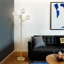 Postmodern Personality Creative Metal Floor Lamp livingroom bedroom 4 glass ball boutique villa fashion design LED standing lamp