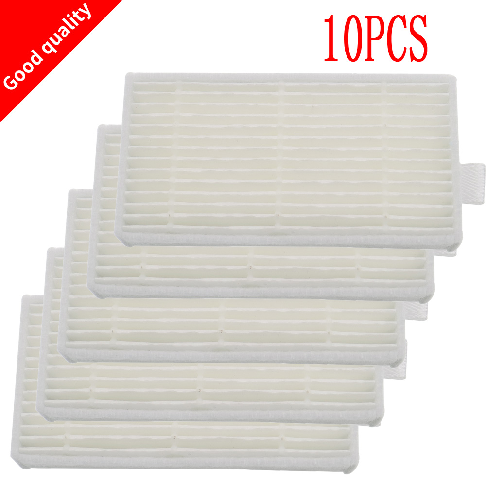 10 Pieces Replacement hepa filter for Dibea panda X500 X600 ECOVACS CR120 vacuum cleaner accessories 4 hepa filter 6 side brush 3l 3r kit for ecovacs dibea x500 x580