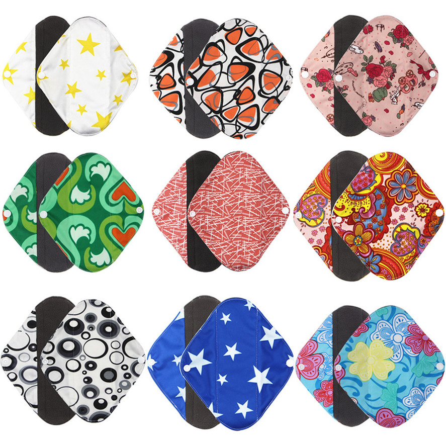 1pc New Arrival Women's Reusable Bamboo Cloth Washable Menstrual Pad Mama Sanitary Towel Pad Pretty Feminine Hygiene Product 3