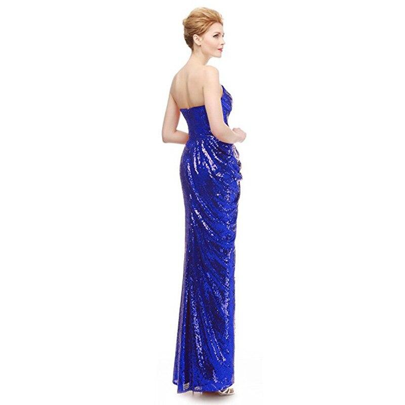 Пикантные дешевые вечерние платья для любимой декольте ярко-синий красный блёстки Длинные Формальные Вечеринка платья для женщин спереди ...
