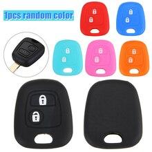 2 Button Silicone Remote Key Case Cover For Peugeot 307 107 207 Citroen C3 C5 Random Color