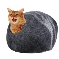 Pet Home Cats Puppy Handcrafted Felted Wool Pet Cat Cave Bed Nest Soft Comfortable for Pet Large Cats and Kittens