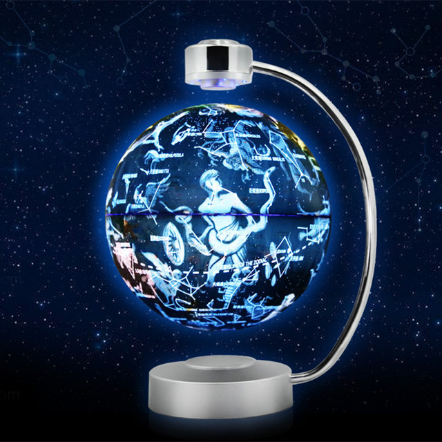Touch Maglev Floating Earth Globe Table Lamp With World Map For