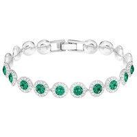 Kaliyah Original New Angel Bracelet Swa Bright Mode Crystal Green Wheel Bracelet Of Female Romantic Sex Present From Birthday Luxury