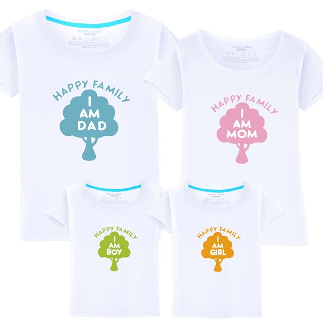cb7938b8 2018 New Arrival Family Matching Clothes Summer Father and Son Cartoon T  shirt Mother Daughter Clothes Family Look Clothes