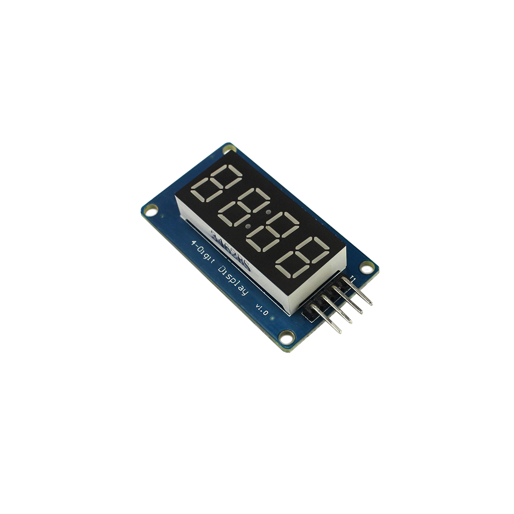 Free Shipping 4 Digital Display With Adjustable Brightness LED Module Clock Point Accessories Blocks For Arduino